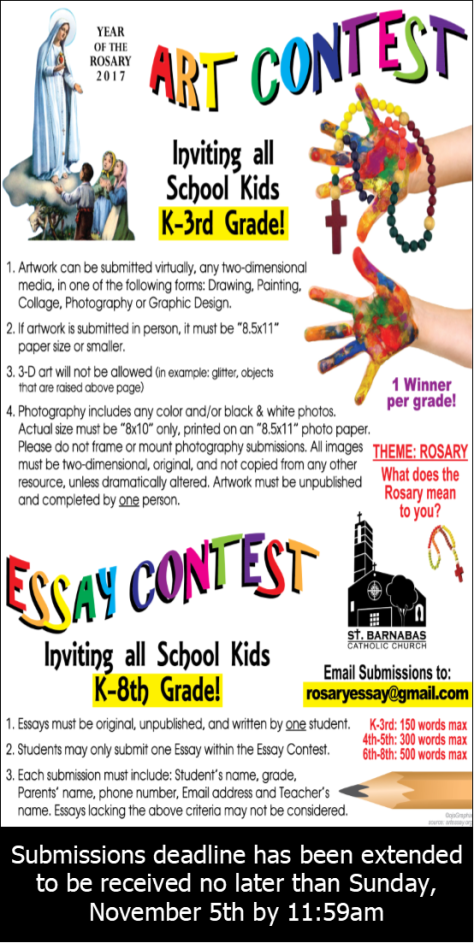 art contest essay contest st barnabas church art contest