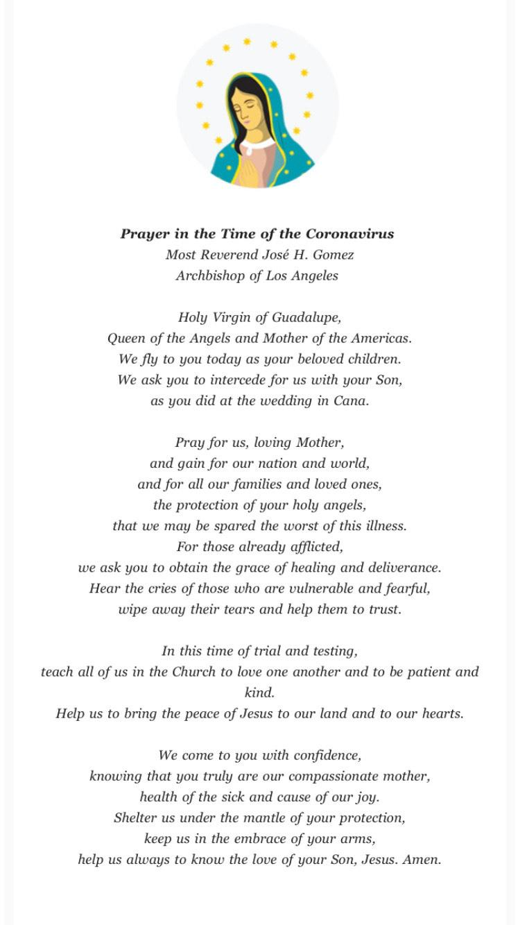 Prayer from Arch Gomez
