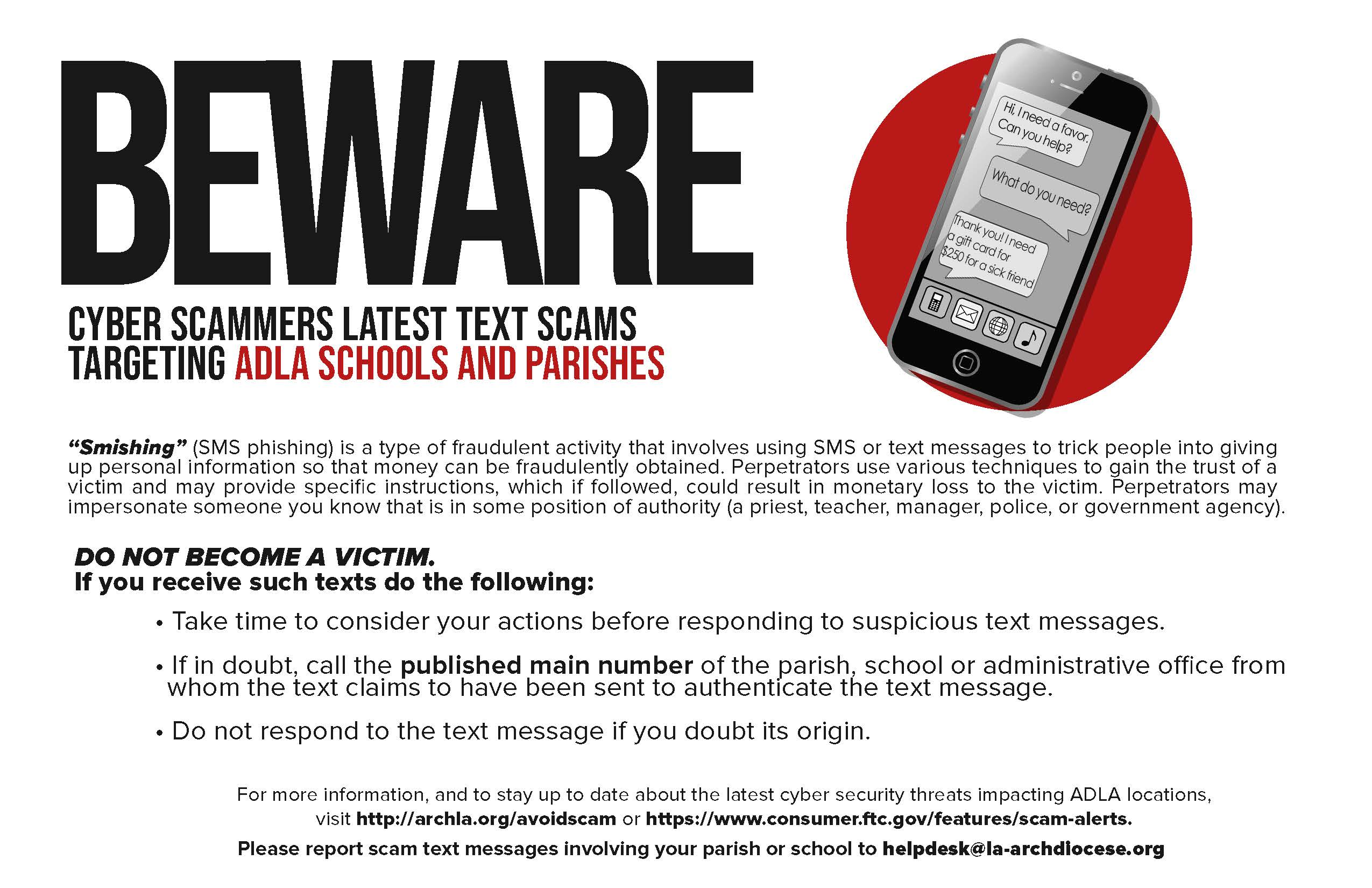 Text Scam Notice